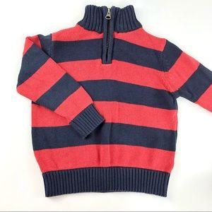 Striped toddler boy sweater